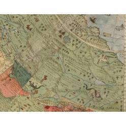 Вчені склали мапу світу XVI століття з русалками і єдинорогами