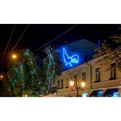 В центре Одессы появилась неоновая инсталяция «Мур-Мяу» от художника Степана Рябченко