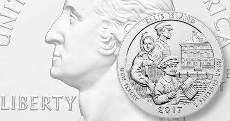 В США выпущена инвестиционная монета «Остров Эллис»