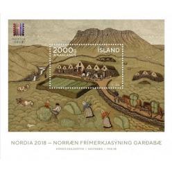 Эстония выпустила почтовый блок, посвященный главной филателистической выставке Северной Европы