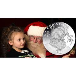 В канун Рождества в Гибралтаре появились монеты с изображением Санта-Клауса