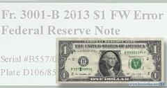 На банкноте США обнаружена ошибка нумератора