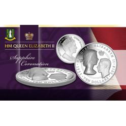 Монету, посвященную 65-летию со дня коронации королевы Елизаветы II, отчеканили в Великобритании
