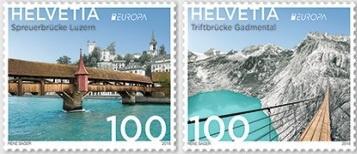 На новых швейцарских марках запечатлен контраст истории и современности