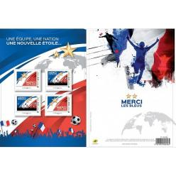 Франция выпустила серию марок в честь победы на Чемпионате Мира