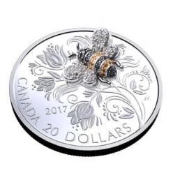 В Канаде появилась монета с «драгоценной» пчелой