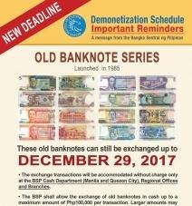 Обмен старых филиппинских купюр будет прекращен
