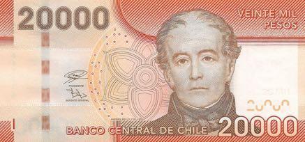 В Чили обновлена банкнота номиналом 20 000 песо