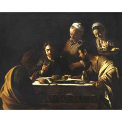 На монете Сан-Марино представлен фрагмент картины Караваджо «Ужин в Эммаусе»