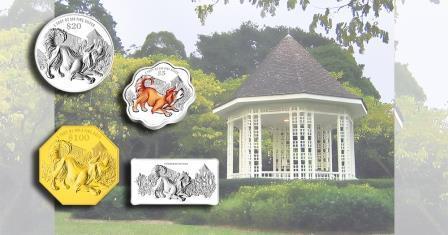 Памятные монеты в честь Года Собаки показал Сингапур