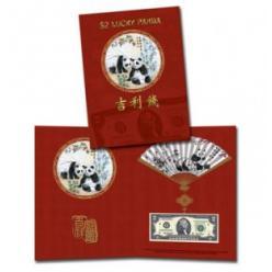 В США выпущена счастливая банкнота с изображением панды и серийным номером «888»