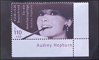 Почтовая марка с Одри Хепберн ушла с молотка за 150 тысяч евро