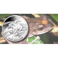 Pobjoy представил монеты в честь квакш (желтых древесных лягушек)
