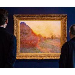 На аукционе Sotheby's в Нью-Йорке за $ 110,7 млн ушла с молотка картина Клода Моне «Стог сена»