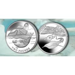 Британские Антарктические территории выпустили монеты с тюленями