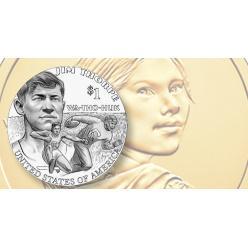 Монету «Коренные американцы» посвятили Джиму Торпу
