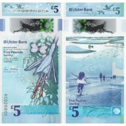   В Северной Ирландии в денежном обращении появились полимерные знаки номиналом 5 и 10 фунтов