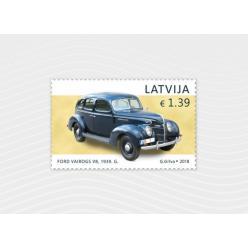 В Латвии выпущена почтовая марка с изображением автомобиля