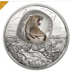 Монета с изображением саблезубой кошки во льду представлена в Канаде