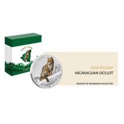 На новой монете Никарагуа изображена дикая кошка оцелот