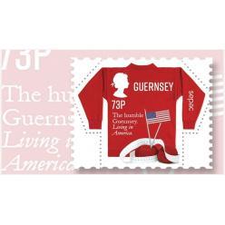 На острове Гернси выпустили почтовую марку с американским флагом