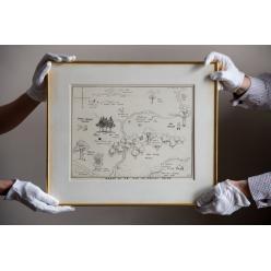 На аукционе Sotheby's карта к книге про Винни Пуха ушла с молотка за £430 000