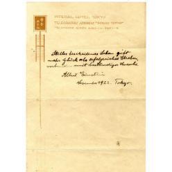 Записки Эйнштейна, в которых раскрыт секрет счастья, будут проданы на аукционе