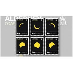 Остров Гернси отпечатал серию почтовых марок с солнечным затмением