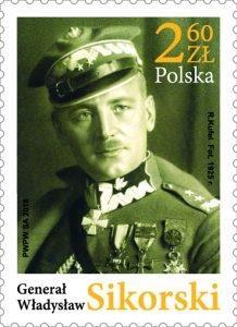 Марку с изображением генерала Владислава Сикорского выпустили в Польше