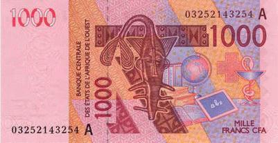 Изменены купюры франков Западноафриканских Государств