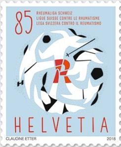 Марки против болезни: в Швейцарии выпустили марку в честь Лиги борьбы с ревматизмом