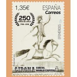 В Испании выпущена новая марка в честь 250-летия циркового шоу