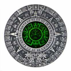 В Польше презентовали инновационную монету «Календарь ацтеков»