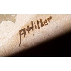 Картины, предположительно, авторства Адольфа Гитлера не нашли своего покупателя на аукционе в Нюрнберге