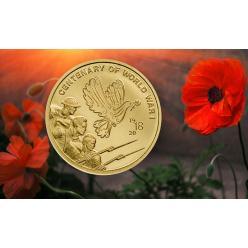 Выпущена золотая монета, посвященная 100-летию Первой мировой войны