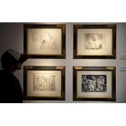 100 известных гравюр Пикассо проданы на аукционе в Париже
