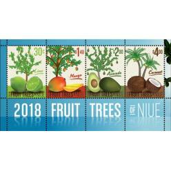 В Ниуэ представлены марки, на которых изображены фруктовые деревья
