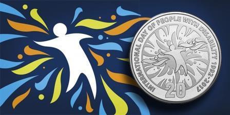 Монету, посвященную Дню инвалидов, представили в Австралии