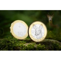 В Швейцарии представили коллекционную монету с изображением оленя