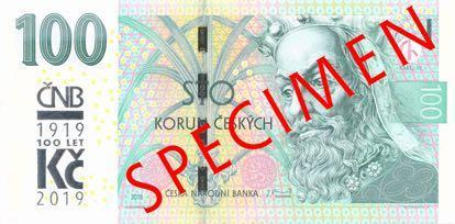 В Чехии повторно выпустили памятную банкноту, посвященную 100-летию создания национальной валюты
