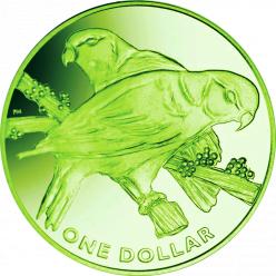 Національний птах Фіджі представлений на першій в країні титановій кольоровий монеті