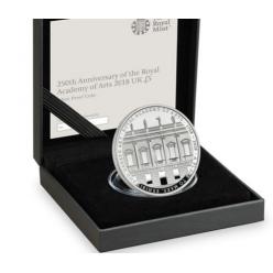 В Британии представили монету, посвященную 250-летию Королевской академии искусств