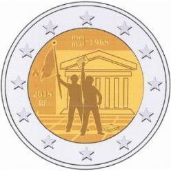 В Бельгии представлена 2-евровая монета в честь революции 1968 года