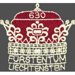  Почта Лихтенштейна выпустила вышитую марку в честь 300-летия Княжества