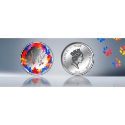 На новых монетах Ниуэ появился неуклюжий «щенок-художник»