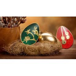 Представлена новая монета в виде яйца Фаберже