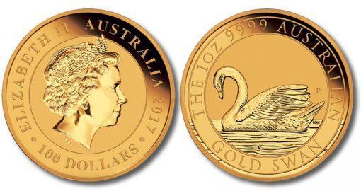 В Австралии выпущена монета с изображением лебедя