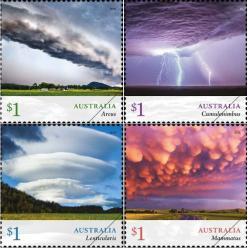 Марки с изображением облаков представила почта Австралии