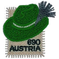 В Австрии появилась необычная вышитая марка