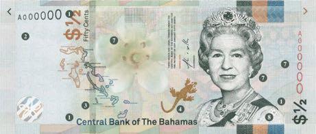 На Багамских Островах выпущена банкнота номиналом 50 центов